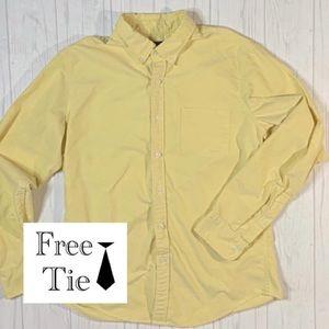J. CREW Mens Button Down Dress Shirt size large